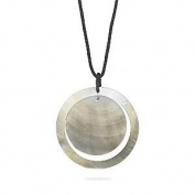 Cord Necklace with Double Shell Pendant