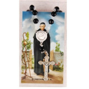 St. Peregrine Auto Rosary and Prayer card