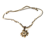 """Boxwood and Cotton Cord """"Turtle Walken"""" Necklace"""