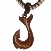Hawaiian Jewellery Whale Tail Fish Hook Pendant Necklace From Hawaii