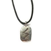 Rune Sigel Pewter Pendant on Corded Necklace, Ancient Runes Collection