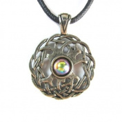 Celtic Sexuality Pewter Pendant on Corded Necklace, Celtic Harmony Collection