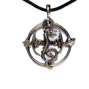 Celestial Dragon Pewter Pendant On Corded Necklace, The Celestial Collection