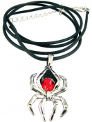 Black Widow Spider Pendant - Collectible Medallion Necklace Accessory