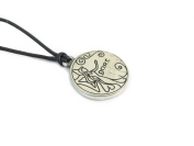 Gort, Celtic Astrology Two Sided Pewter Pendant on Cord Necklace