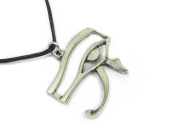 The Eye of Horus Pewter Pendant with Cord Necklace, The Egyptian Collection