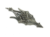 Viking Wolf's Head Pewter Pendant on Cord Necklace, The Norse Collection