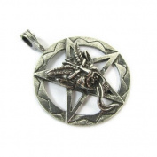 The Pentacle of Baphomet Pewter Pendant on Cord Necklace, The Wiccan Collection