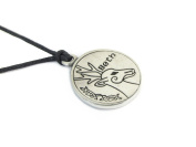 Beth, Celtic Astrology Two Sided Pewter Pendant on Cord Necklace