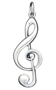 925 Sterling Silver Treble Clef Charm Pendant