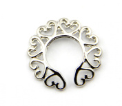 316l Surgical Steel Sexy Non-Piercing Nipple Rings Shield Clip On Heart Circle Ring Shape