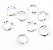 316L Surgical Stainless Steel 8 Clip On Fake Piercings Rings Ear Nose Lip Earrings Body Jewellery
