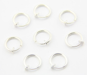 316L Surgical Stainless Steel 8 Silver Colour Clip On Fake Body Piercing Ear Nose Lip Ring Earrings Gothic Punk Jewellery