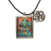 Kali, Hindu Deity Full Colour Pendant on Cord Necklace