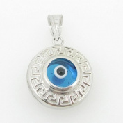 womens bp139 kabbalah evil eye .925 Sterling Silver good luck charm pendant