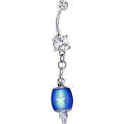 Handcrafted Crystalline Gem Glow in the Dark Mood Belly Ring