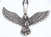 Don't Tread On Me Eagle Pewter Pendant Necklace
