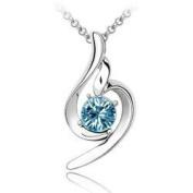 Elegant Women Sea Blue Crystal Pendant Necklace Fashion Jewellery