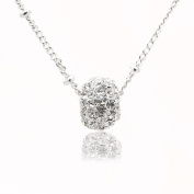 SD Collection Lucid Crystal Ball Choker Necklace
