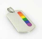 Gay Rainbow Sisters Gay Pride Dog Tag with Side Bar