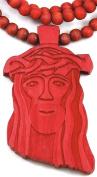 Jesus Piece New Red Good Wood Goodwood Replica Pendant & 91.4cm Necklace
