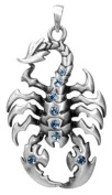 Blue Scorpion Pendant Collectible Medallion Necklace Accessory Jewellery