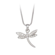 Clear Crystal Dragonfly Pendant Necklace Fashion Jewellery