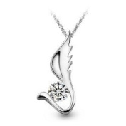Angel Wing Crystal Pendant Necklace Fashion Jewellery -The Wing of Angel Pendant Drop