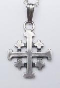 The Jerusalem Cross Pendant in Sterling Silver Made in America