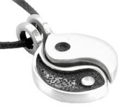 2 Piece Yin Yang Friendship Pewter Pendant Necklace