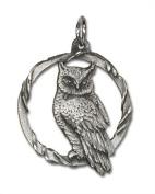 Owl Pewter Charm