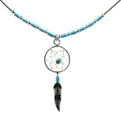 Dream Catcher Turquoise Classic Necklace Sterling Silver, 45.7cm