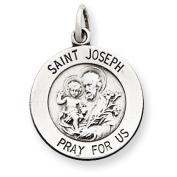 Sterling Silver Antiqued Saint Joseph Medal