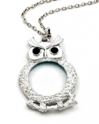 Wise Owl Magnifying Glass Pendant Necklace 81.3cm Nice Size New [Jewellery]