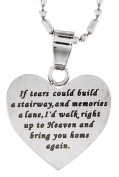 Memorial Heart Stainless Steel Pendant Necklace
