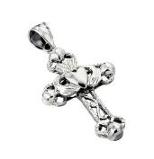 Sterling Silver Claddagh Cross Pendant