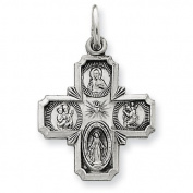 Sterling Silver Antiqued 4-way Medal