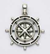 Stainless Steel Nautical Compass Pendant