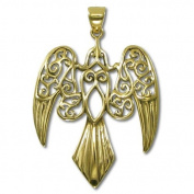 Bronze Large Morrigan Raven Pendant