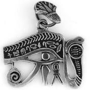 Egyptian Jewellery Silver Eye of Horus Serpent Pendant