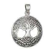 Ornate Celtic Tree of Life Sterling Silver Pendant