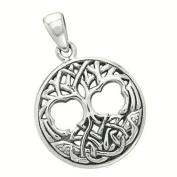 Tree of Life Celtic Ornate Pendant Sterling Silver