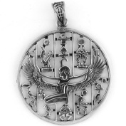 Egyptian Jewellery Silver Winged Isis Pendant