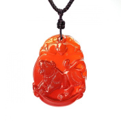 O-stone Chinese Zodiac Natural Red Chalcedony Necklace Series Tiger Sensitive Pendant Grounding Stone Protection Amulet