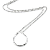 Sterling Silver Oval Charm Holder 43.2cm Necklace