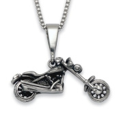 Stainless Steel Chopper with Fork Tool Bag Pendant on a 50.8cm Box Chain