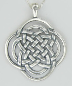 A Stunning Celtic Knot Pendant in Sterling Silver Made in America