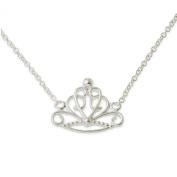 Disney Princess Sterling Silver Crown Necklace