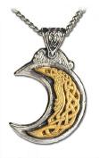 Gold Celtic Moon Pendant Necklace