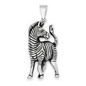 Sterling Silver Antiqued Zebra Pendant